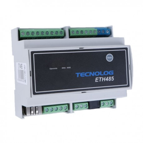 Conversor Serial Modbus RTU para Ethernet Modbus TCP - ETH485 Tecnolog