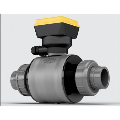Medidor de vazão Eletromagnético FullBore 100% em PVC FlowtraMag® +GF+ SIGNET 2581